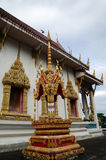 Thai temple   side view Royalty Free Stock Photo
