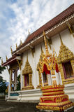 Thai temple   side view Royalty Free Stock Photography