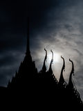 Thai temple Silhouette Stock Image