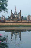 Thai temple. With sky and lake Stock Photography