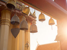 Thai temple small bells. Stock Photo