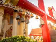 Thai temple small bells. Royalty Free Stock Photography