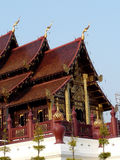 Thai temple. Stack roof of Thai temple Royalty Free Stock Images