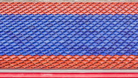 Thai temple style roof tiles Royalty Free Stock Images