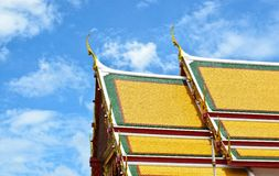 Thai temple style roof tiles Royalty Free Stock Photos