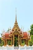 Thai temple on the swamp. Rama 9 Garden Bangkok In Thailan Royalty Free Stock Photos