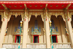 Thai temple in Thailand. Balcony temple picture in Thailand  in the morning Stock Images