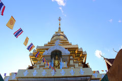 Thai temple on the top of mountain in chiangmai,Thailand Stock Photography