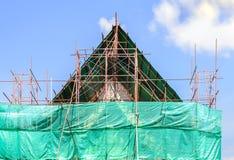 Thai temple under construction.  Stock Images