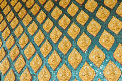 Thai Temple Wall Art design. Pattern art of Thai Temple Wall Stock Photos