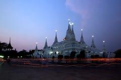 Thai temple wat asokaram Stock Photography