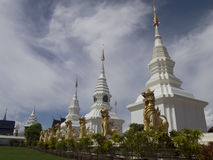 Thai Temple, Wat Ban Den in Chaing Mai Royalty Free Stock Images