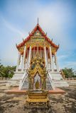 Thai temple, Wat Bang Pla - Samut Sakhon, Thailand. Thai temple, Wat Bang Pla with blue sky - Samut Sakhon, Thailand stock image