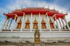 Thai temple, Wat Bang Pla - Samut Sakhon, Thailand. Landscape of Thai temple, Wat Bang Pla - Samut Sakhon, Thailand royalty free stock images