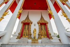 Thai temple, Wat Bang Pla - Samut Sakhon, Thailand. Landscape of Thai temple, Wat Bang Pla - Samut Sakhon, Thailand stock photography