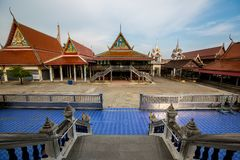 Thai temple, Wat Bang Pla - Samut Sakhon, Thailand. SAMUT SAKHON, THAILAND - SEPTEMBER 21: Thai temple, Wat Bang Pla on September 21, 2015 in Samut Sakhon stock photo