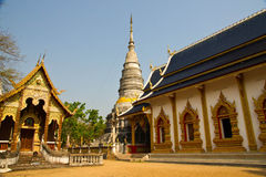 Thai temple. Wat thai in lamphun north of thailand royalty free stock photo