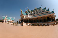 Thai temple is in Wat Pa Phu Kon ,Northeastern of Thailand. Royalty Free Stock Images