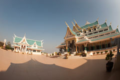 Thai temple is in Wat Pa Phu Kon ,Northeastern of Thailand. Royalty Free Stock Photography