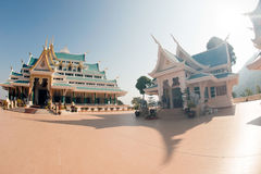 Thai temple is in Wat Pa Phu Kon ,Northeastern of Thailand. Stock Images