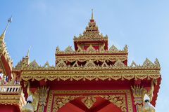 Thai temple of WAT PHRATHAT RUENG RONG TEMPLE in Sisaket,Thailand.  Stock Photos