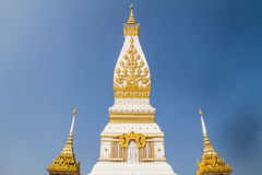 Thai temple Wat Prathat Panom, Nakornpanom province, northeastern of Thailand Stock Photos