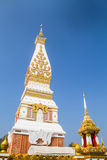 Thai temple Wat Prathat Panom, Nakornpanom province, northeastern of Thailand Royalty Free Stock Photos