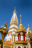 Thai temple Wat Prathat Panom, Nakornpanom province, northeastern of Thailand Stock Images