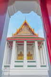 Thai temple Wat Ratchanadam. Bangkok, Thailand Located on the corner of Ratchadamnoen Avenue and Maha Chai Road royalty free stock image