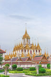 Thai temple Wat Ratchanadam Metal Castle. Metal Castle built as a replacement for Jade Pagoda. It is the first metal castle in Thailand. The top 37 castles stock photo