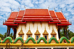 Wat  Salakphet , the temple in Thailand, Ko Chang island Royalty Free Stock Images