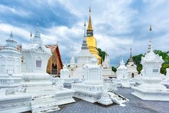 Temple Wat Suan Dok in Chiang Mai; Thailand royalty free stock photo