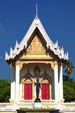 Thai temple Wat Sutha Chinda soars into blue sky. In Nakhon Ratchasima province Royalty Free Stock Photos