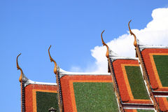 Thai temple at wat suthat. Thai temple and blue sky in sunny day at wat suthat in bangkok thailand Stock Images