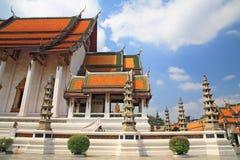Thai temple of Wat Suthat Royalty Free Stock Image