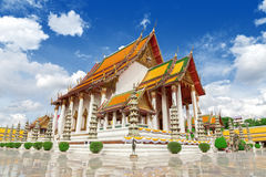 Thai temple, Wat Suthat. Royalty Free Stock Photos