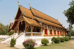 Thai temple Wat Wiang Kum Kam Royalty Free Stock Photography