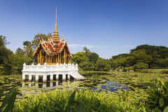 Thai temple on the water Stock Image