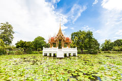 Thai temple on the water Stock Images