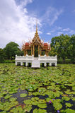 Thai temple on the water Royalty Free Stock Photography
