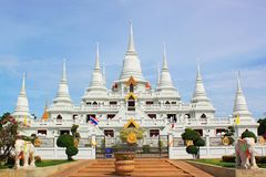 Thai Temple White Pagoda Royalty Free Stock Image