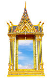 Thai temple window Royalty Free Stock Photos