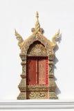 Thai temple window Royalty Free Stock Photos