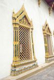 Thai temple window Royalty Free Stock Image
