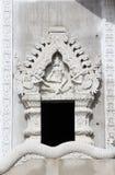 Thai temple window Royalty Free Stock Image