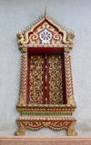 Thai temple window. Stock Images
