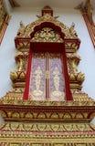 Thai temple window. Stock Photography