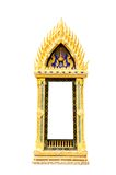 Thai temple window on white background Royalty Free Stock Photos