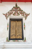 Thai temple window. Stock Image
