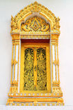 Thai temple windows Stock Photography